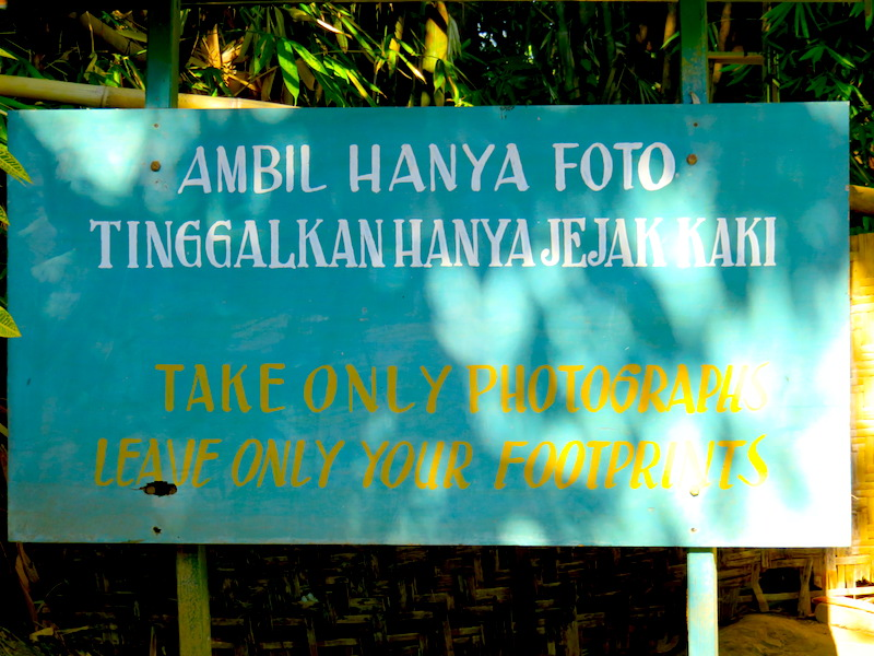 Take only photos, leave only footprints.